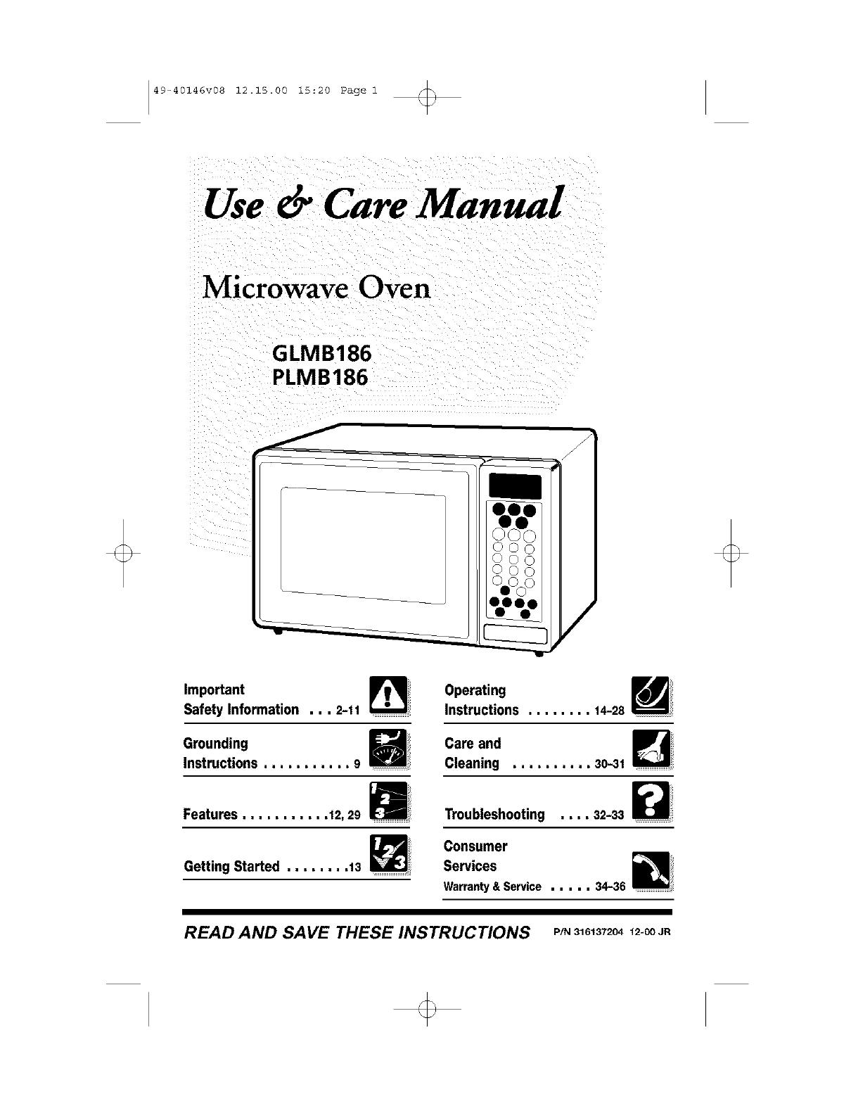 Frigidaire Microwave Warranty