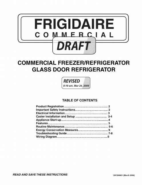 small resolution of frigidaire fcgm201rfb2 user manual refrigerator freezer manuals and guides l0911500