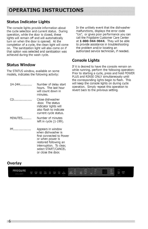 Frigidaire Dishwasher Uo Code : frigidaire, dishwasher, Frigidaire, FGID2466QB1A, Manual, DISHWASHER, Manuals, Guides, 1406202L