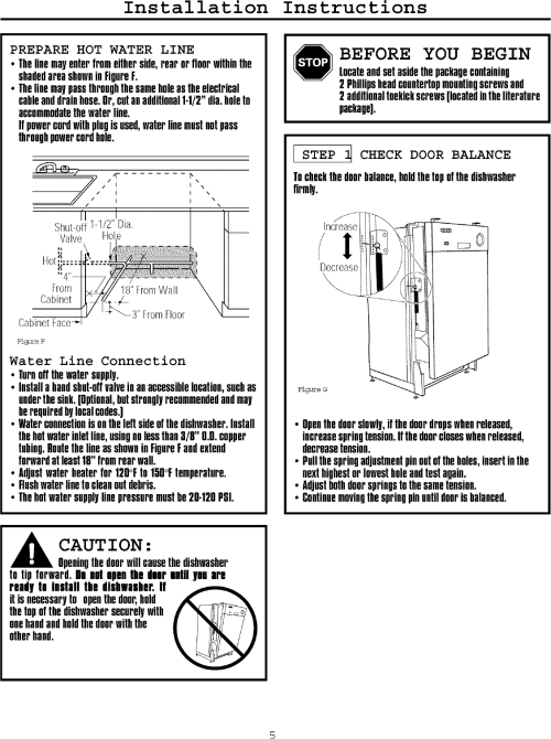 small resolution of page 5 of 12 frigidaire fmb330rgs0 user manual dishwasher manuals and guides l0709007