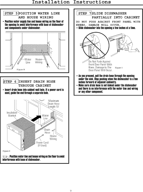 small resolution of page 7 of 12 frigidaire fmb330rgs0 user manual dishwasher manuals and guides l0709007