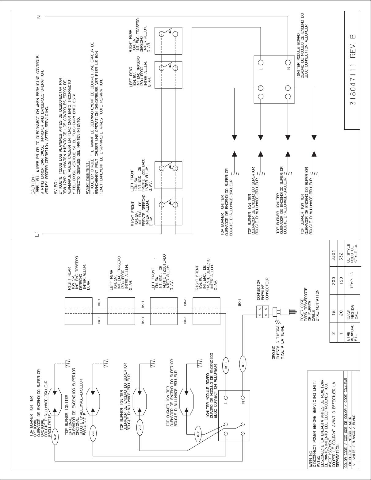 Frigidaire Ffgc3010Qb Wiring Diagram 318047111B