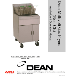 frymaster dean sm35 users manual millivolt gas non ce front cover 6 3 03 [ 1169 x 1544 Pixel ]