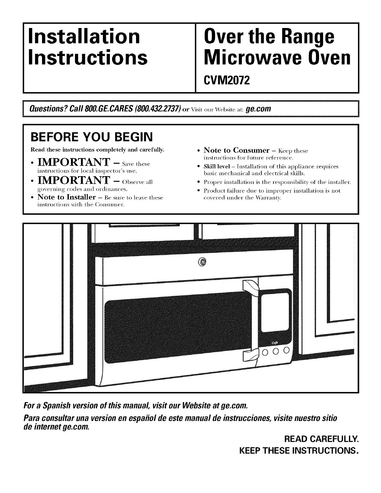 ge cvm2072sm1ss user manual microwave