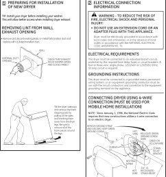page 2 of 12 ge dbvh520ej3ww user manual electric dryer manuals and guides l0908200 [ 1163 x 1560 Pixel ]