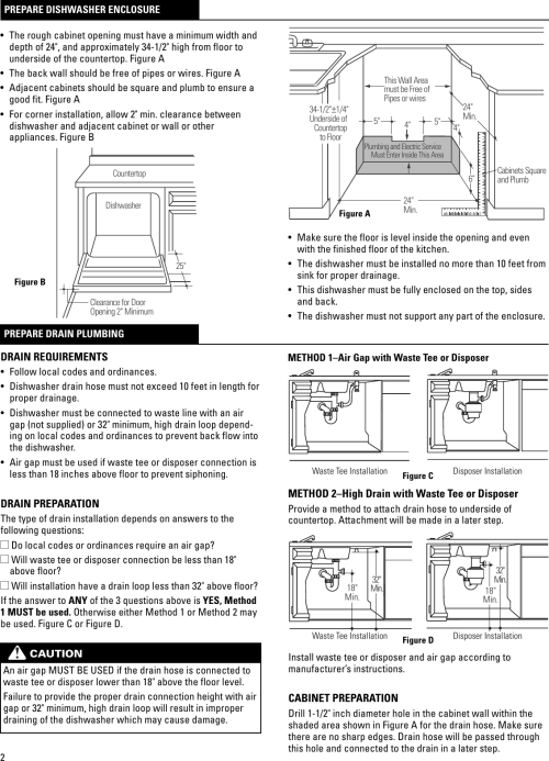 small resolution of page 3 of 9 ge dw install for pdf installation instructions 31 30515