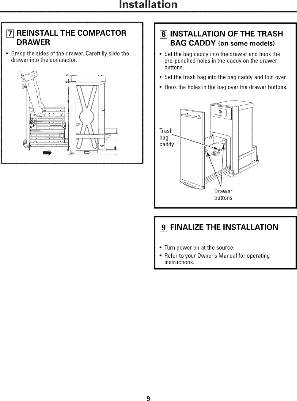 medium resolution of page 9 of 12 ge gcg1580l0ss user manual compactor manuals and guides l0603299
