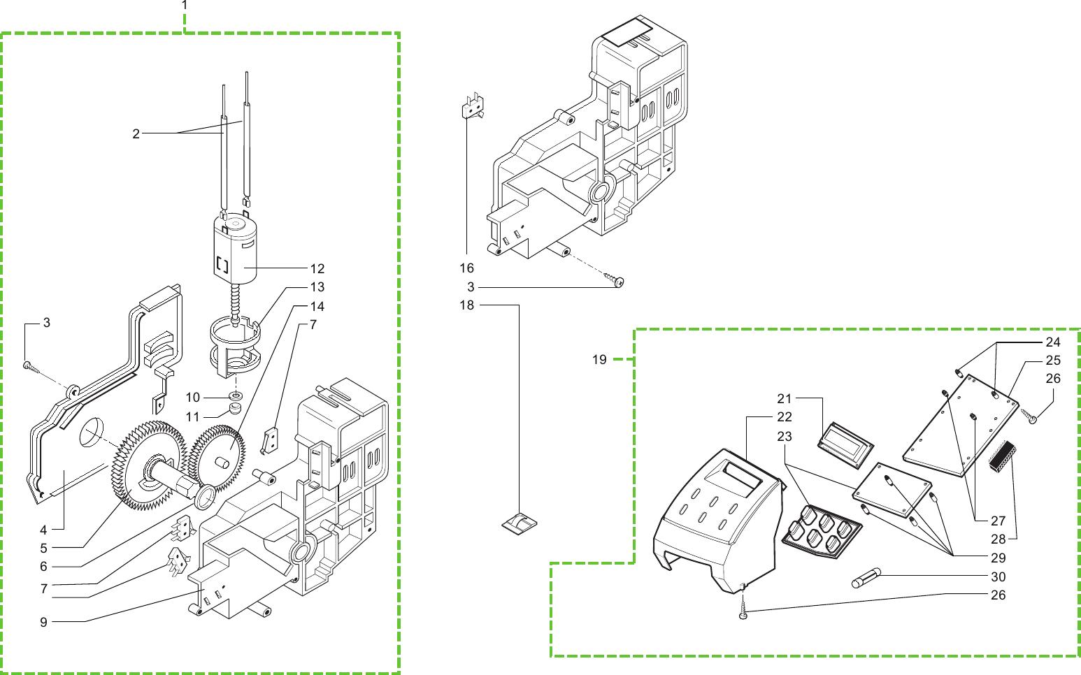 Gaggia Syncrony Digital Parts Diagram 01 E003.038_ed°3