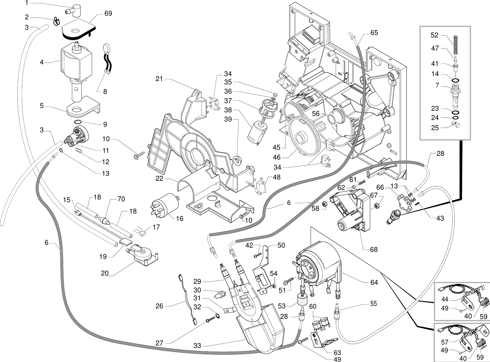 Gaggia Titanium Parts Diagram Sup027YDR_E74075_01_rev04