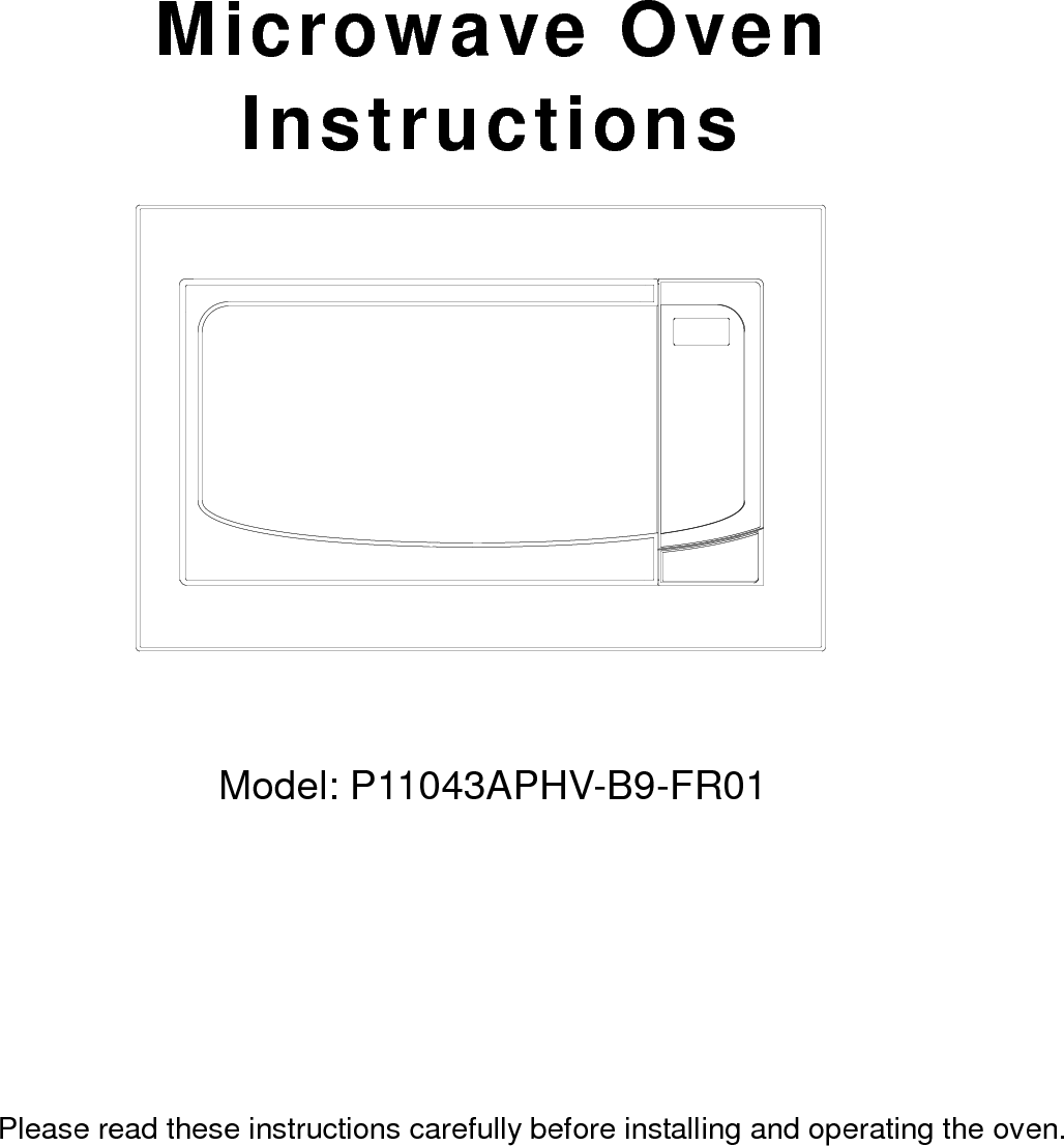 Galanz 11043012 Microwave oven User Manual