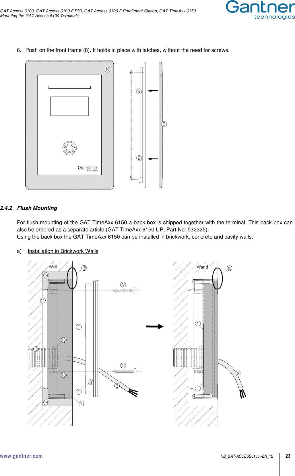 Gantner Electronic GEA1150002A Access Control Terminal