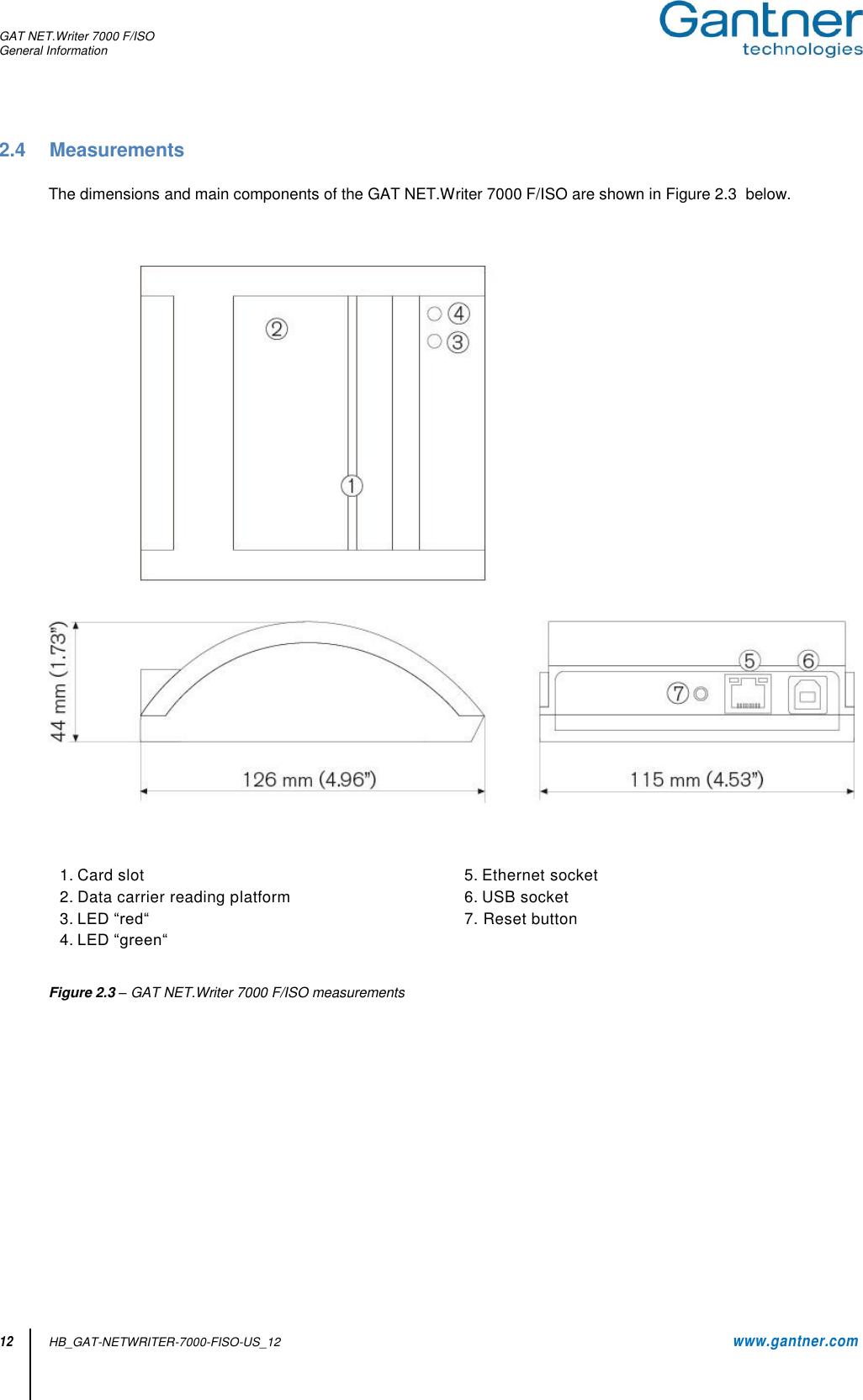 Gantner Electronic GEA1160018A GAT NET.Writer 7000 F/ISO
