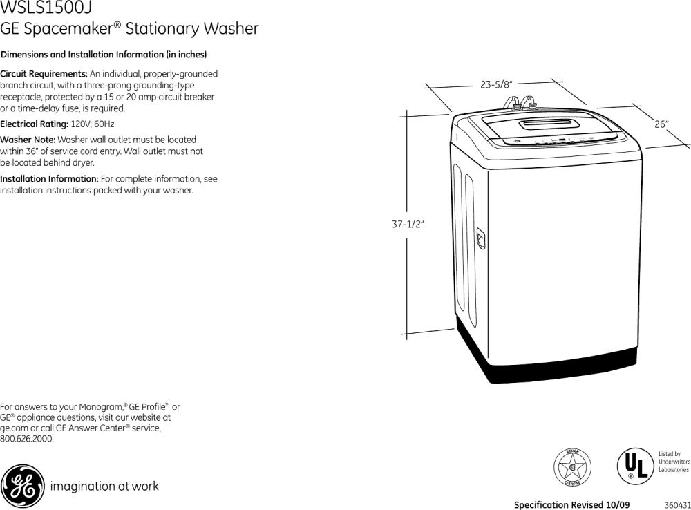 medium resolution of ge appliances spacemaker wsls1500j users manual wiring diagram location ge appliances kitchen appliances