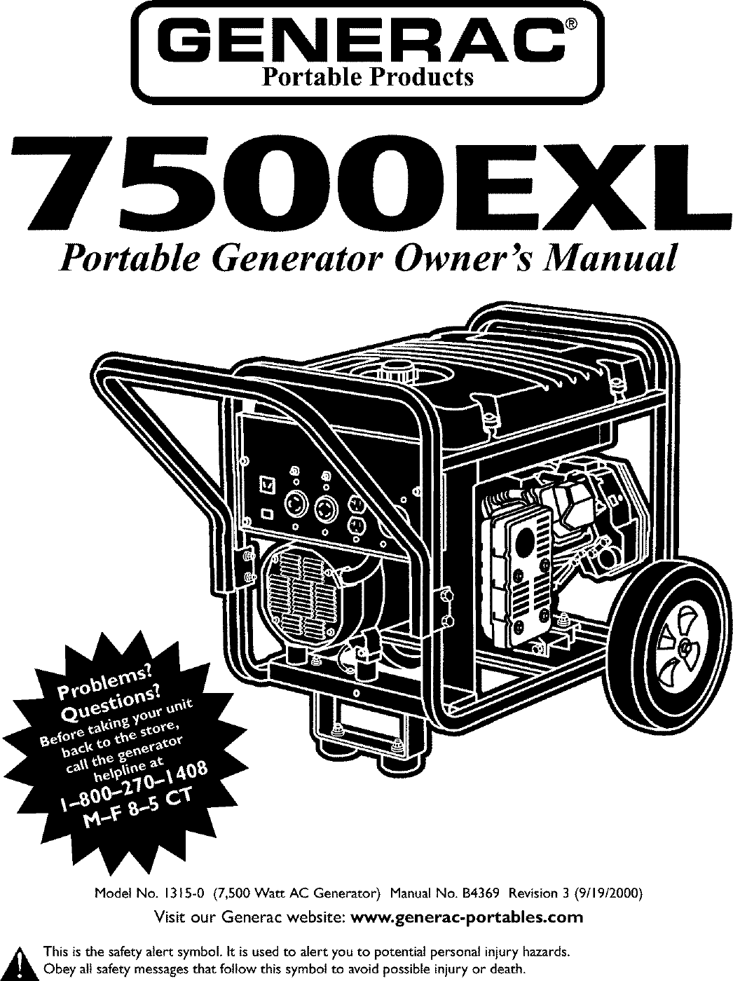 Generac 1315 0 User Manual GENERATOR Manuals And Guides