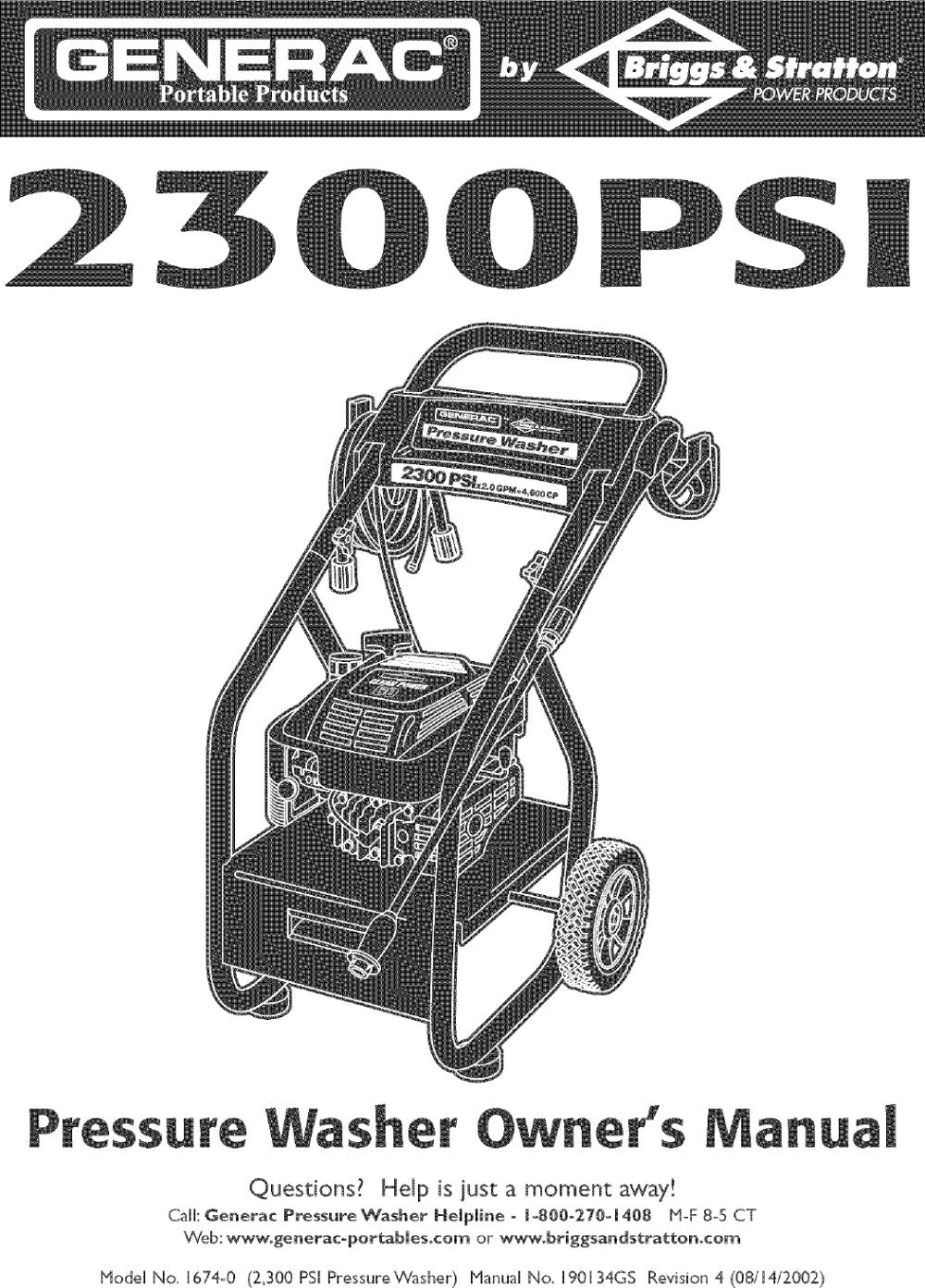 medium resolution of generac pressure washer wiring diagram