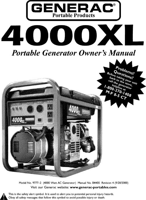small resolution of generac 4000xl 9777 2 owners manual manualslib makes it easy to find manuals online