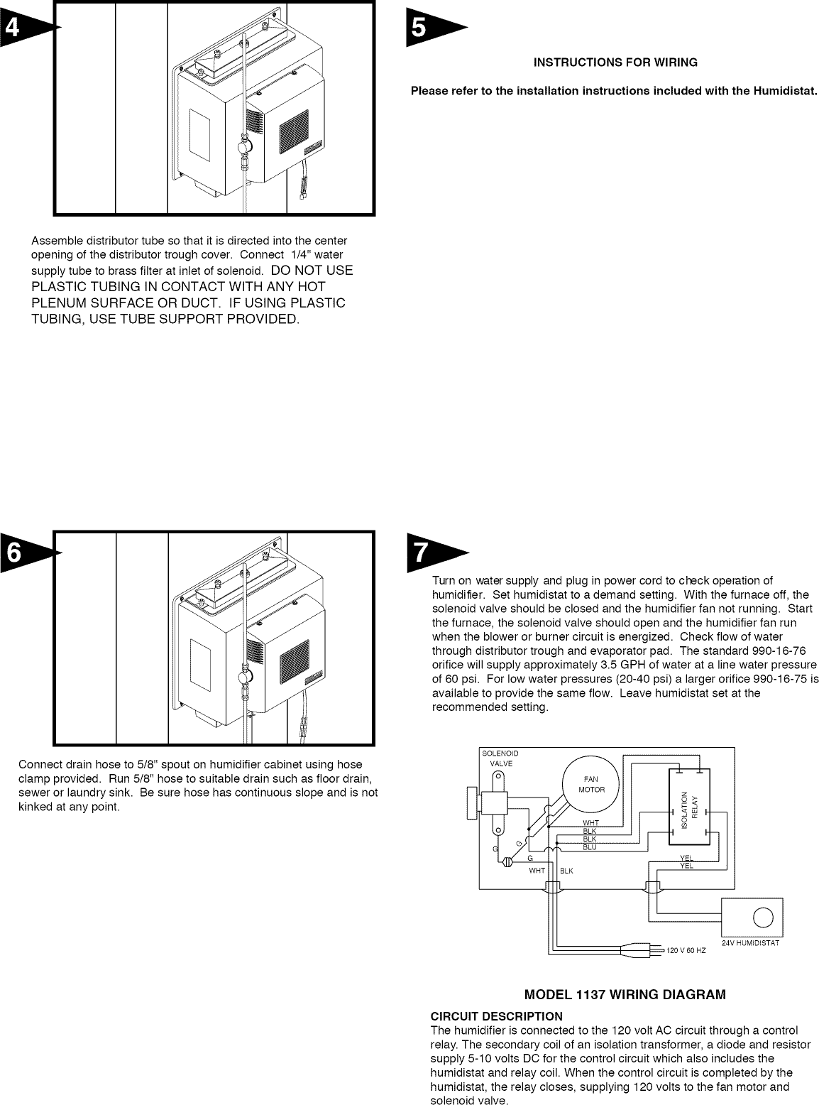 hight resolution of page 2 of 9 generalaire 1137 user manual humidifier manuals and guides l1002554