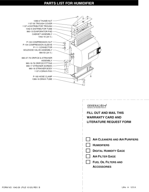 small resolution of page 5 of 8 genie 1042 user manual generalaire humidifier manuals and guides l1002553