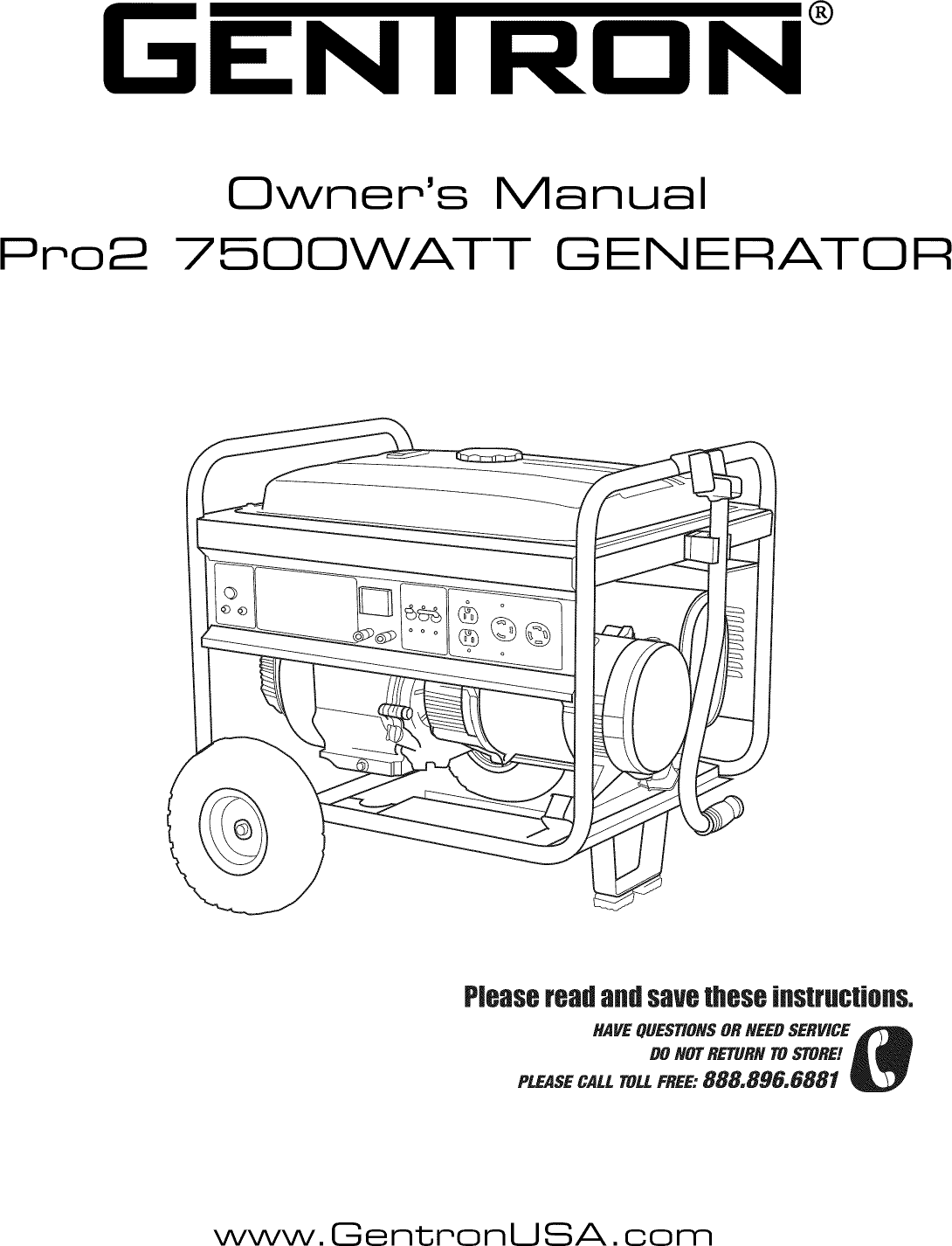 Gentron GG7500 User Manual GENERATOR Manuals And Guides