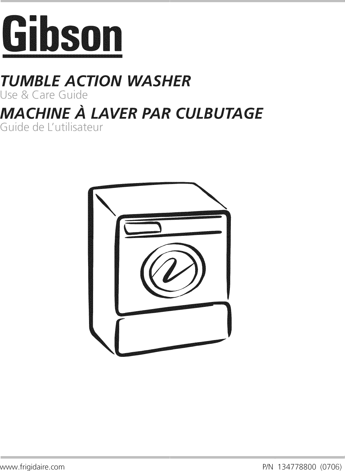 Gibson GTF1040FS2 User Manual WASHER Manuals And Guides