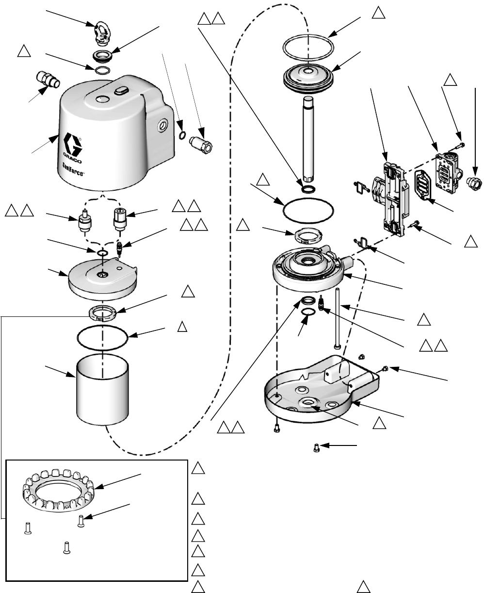 Graco 24R491 3A1211M SaniForce Air Motors, Instructions
