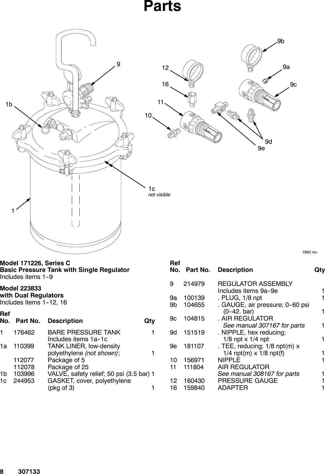 Graco 307133M 2 5 Gallon Pressure Tank Users Manual 2.5