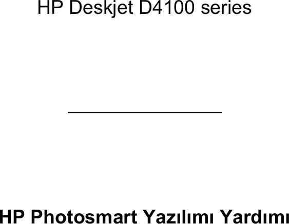 HP Deskjet DJ4100 Series User's Guide Kullanım Kılavuzu