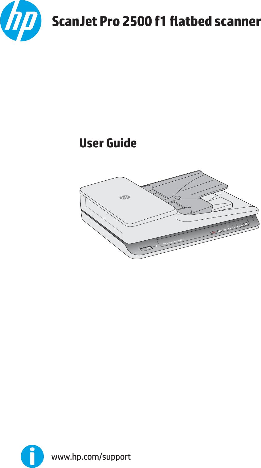 HP ScanJet Pro 2500 F1 Flatbed Scanner User Guide ENWW