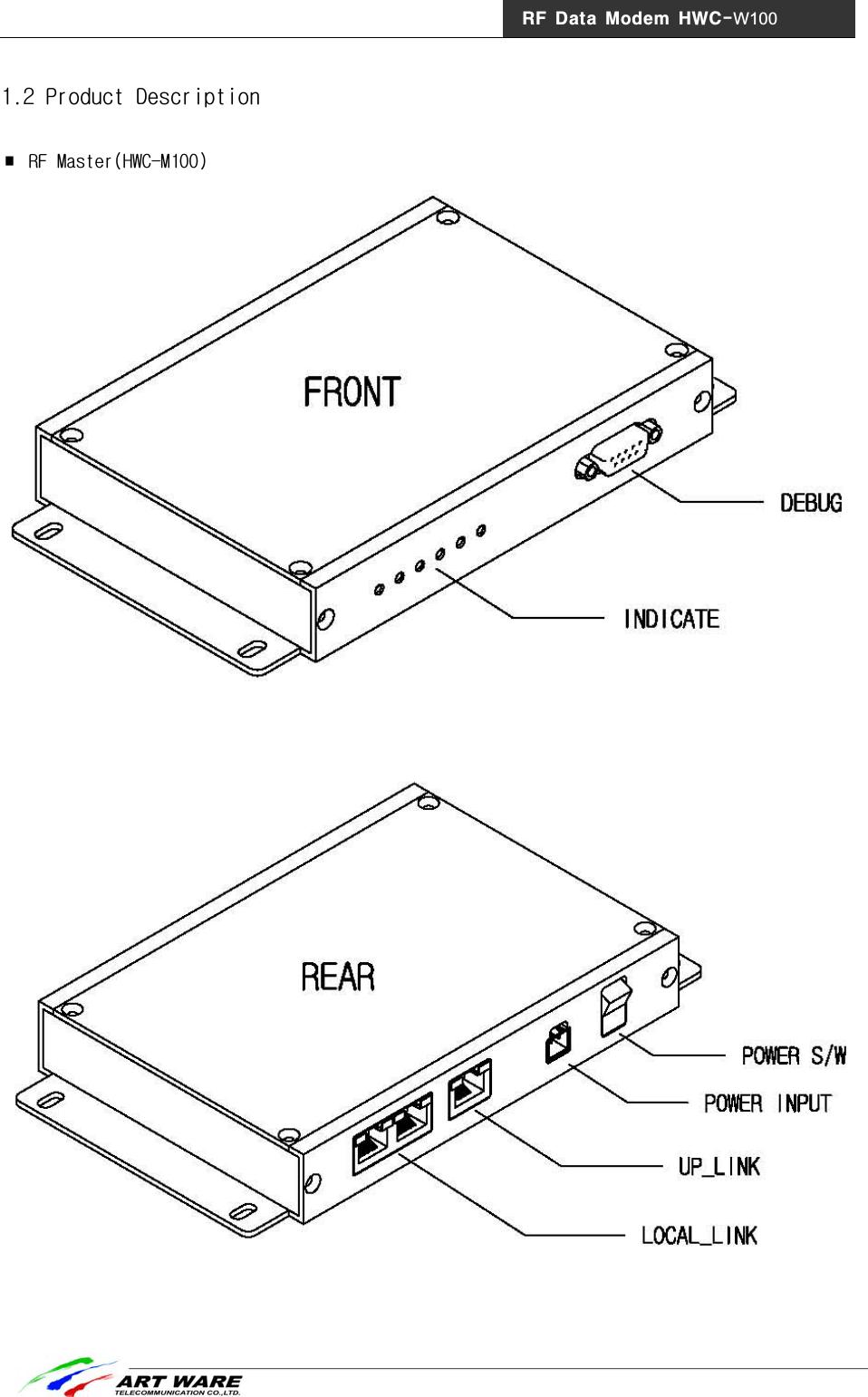 HYUNDAI ELEVATOR HWC-W100 RF Data Modem User Manual ZigBee