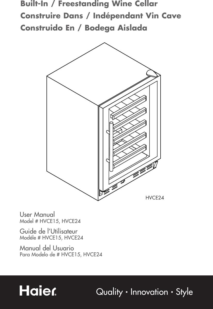 Haier Hvce15Dbh Owner S Manual