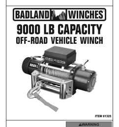 harbor freight 9000 lb off road vehicle electric winch with automatic load holding brake product manual [ 1191 x 1684 Pixel ]
