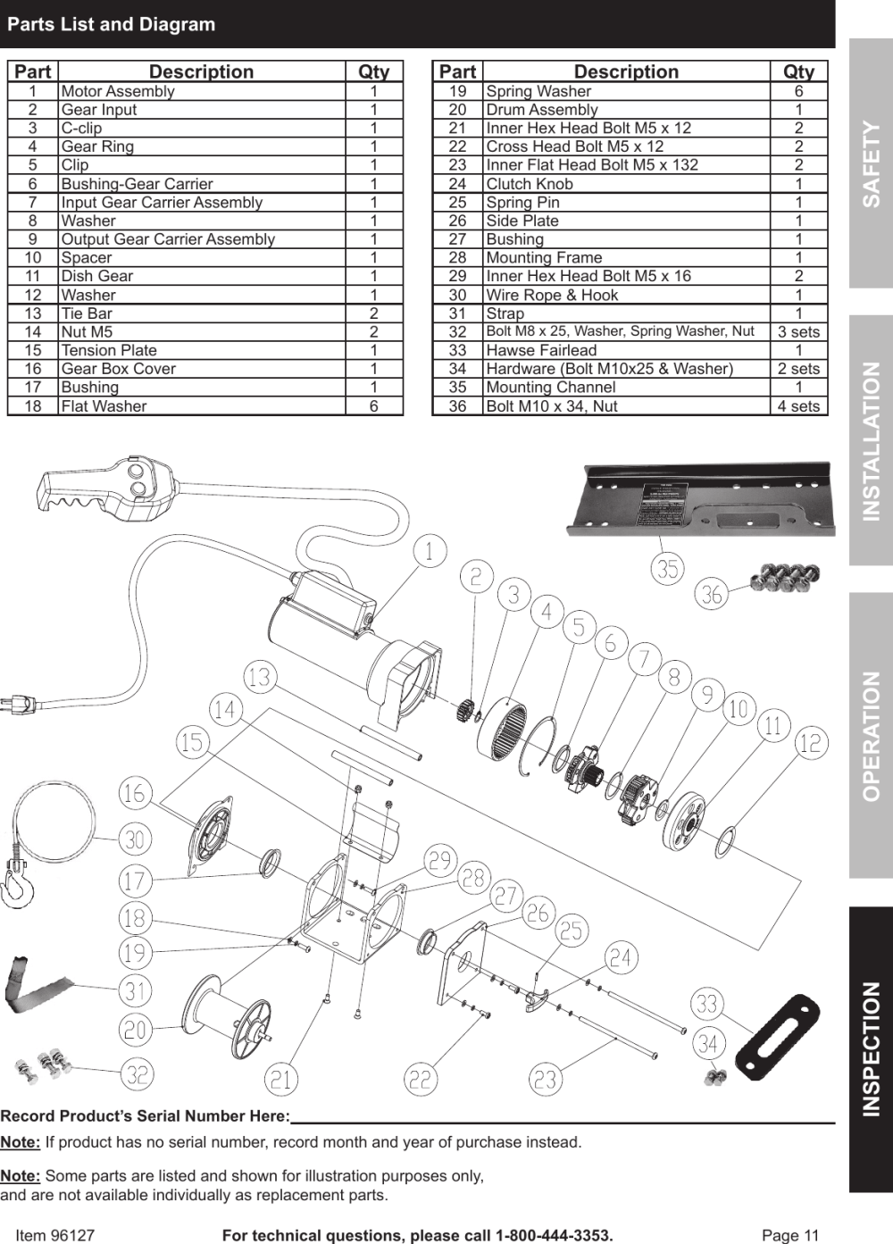 medium resolution of page 11 of 12 harbor freight harbor freight 96127 owner