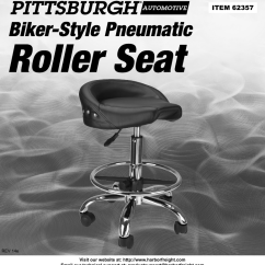 Diagram Of Pneumatic Office Chair Crochet Doily Patterns With Harbor Freight Biker Style Roller Seat Product Manual
