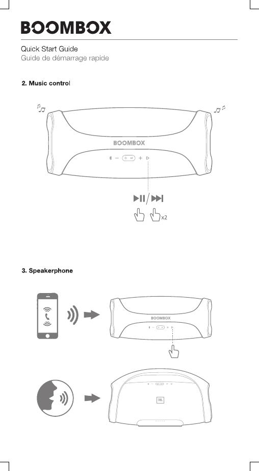 Harman JBLBOOMBOX Portable Bluetooth Speaker User Manual