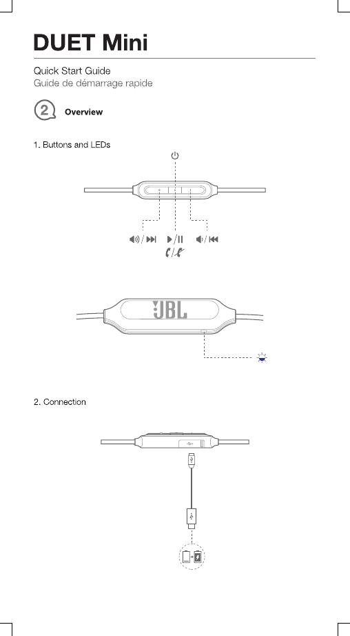 Harman JBLDUETMINI Bluetooth Earphone User Manual TR03996
