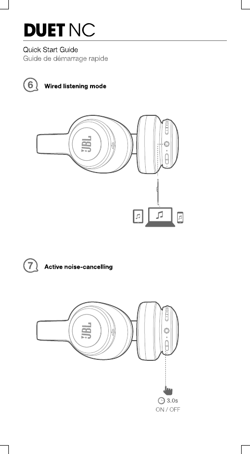 Harman JBLDUETNC Wireless NC Headphones User Manual