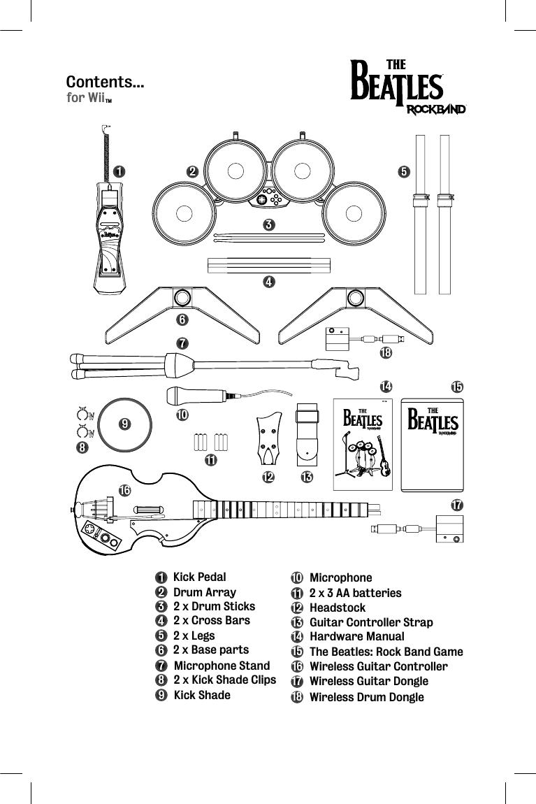 Harmonix Music Systems NWDMS3 P9 Wii Ringo Wireless Drum