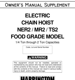 harrington hoists personal lift mr2 users manual  [ 1056 x 1243 Pixel ]