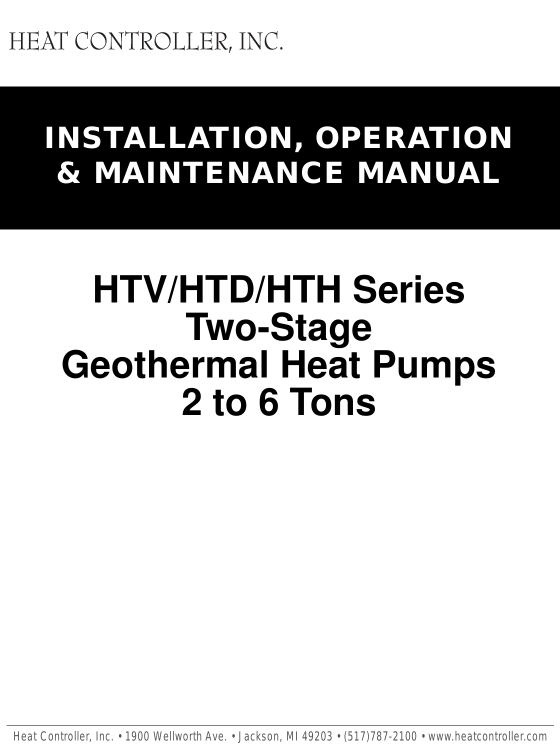 Heat Controller Geomax 2 Two Stage Geothermal Quick Start