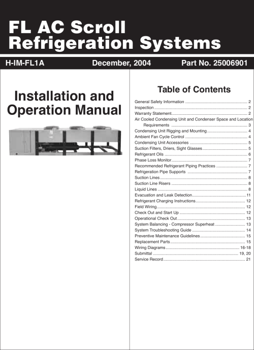 small resolution of heatcraft refrigeration products h im fl1a users manual wiring diagrams preventive maintenance heatcraft refrigeration