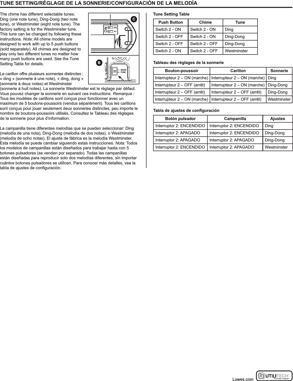 HeathCo WLTX102 Wireless Door Chime Transmitter User