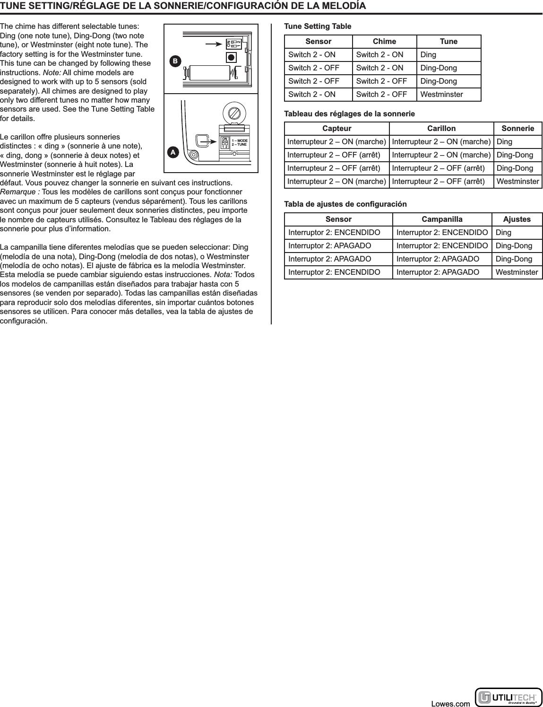 HeathCo WLTX105 Wireless Door Chime Transmitter User