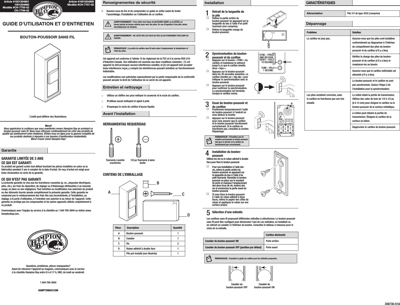 HeathCo WLTX201-A Wireless Door Chime Transmitter User Manual