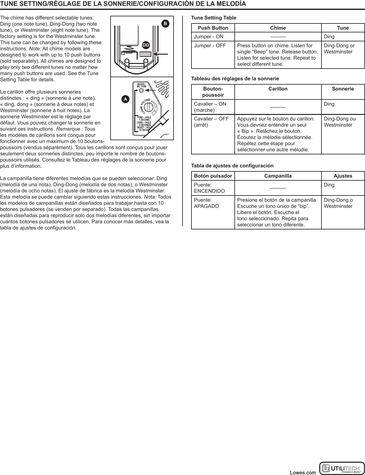 HeathCo WLTX202 Wireless Door Chime Transmitter User Manual