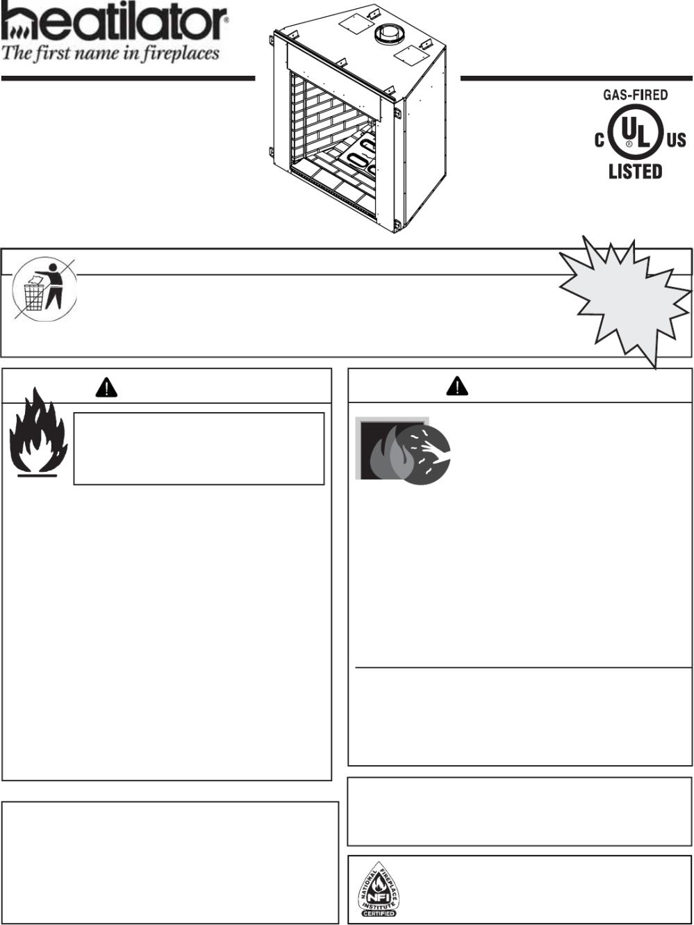 medium resolution of heatilator icon dv idv series 4042 575 rev s 5 11 1