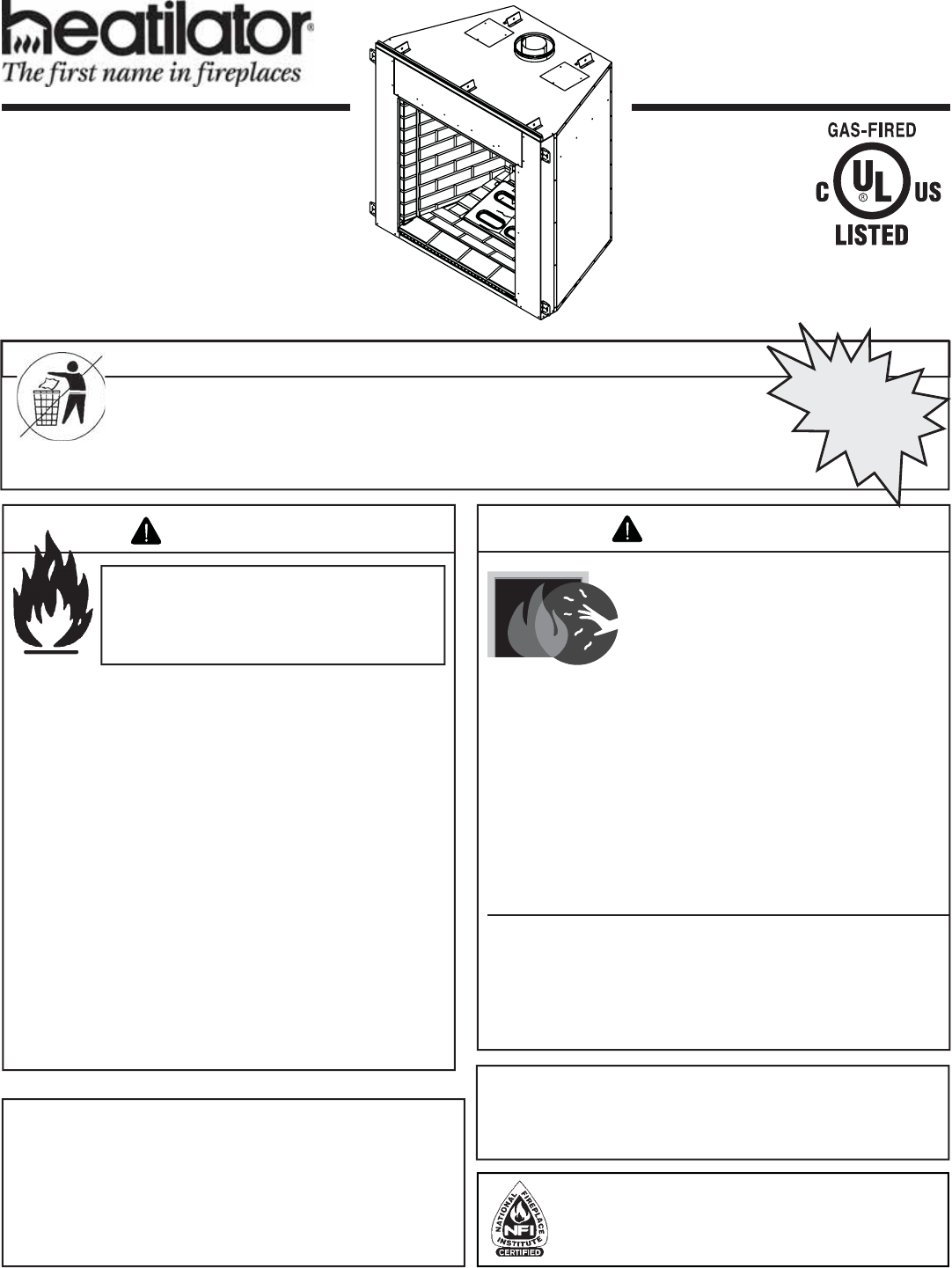 hight resolution of heatilator icon dv idv series 4042 575 rev s 5 11 1