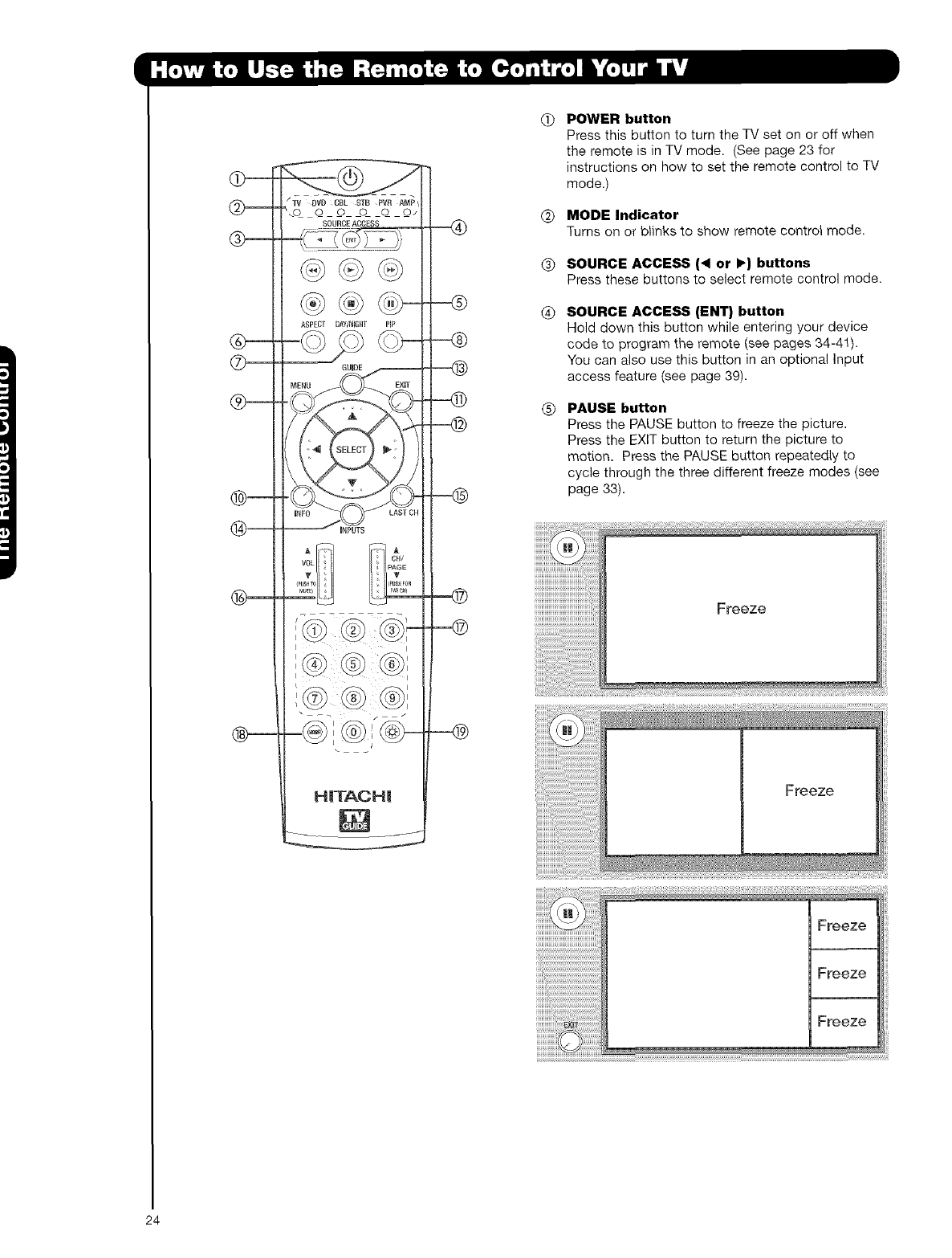 Hitachi 42HDT52 User Manual TV PLASMA Manuals And Guides