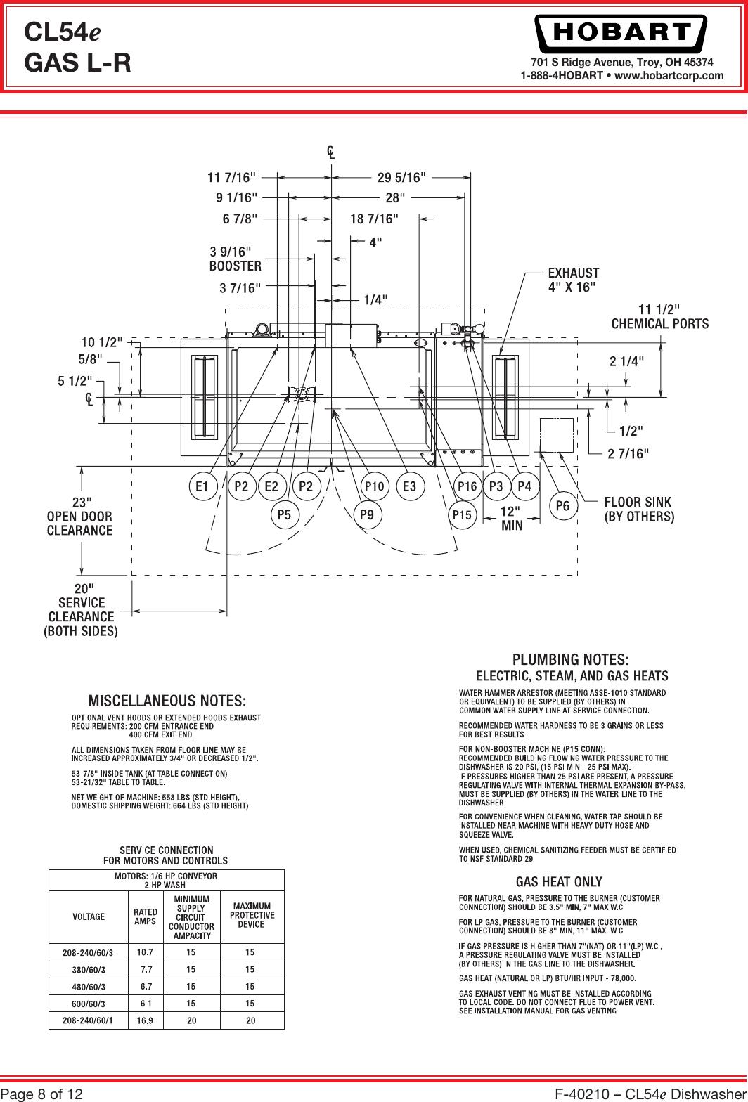 Hobart Cl54E Users Manual