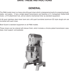 page 2 of 12 hobart hobart p660 users manual hobart  [ 1050 x 1468 Pixel ]