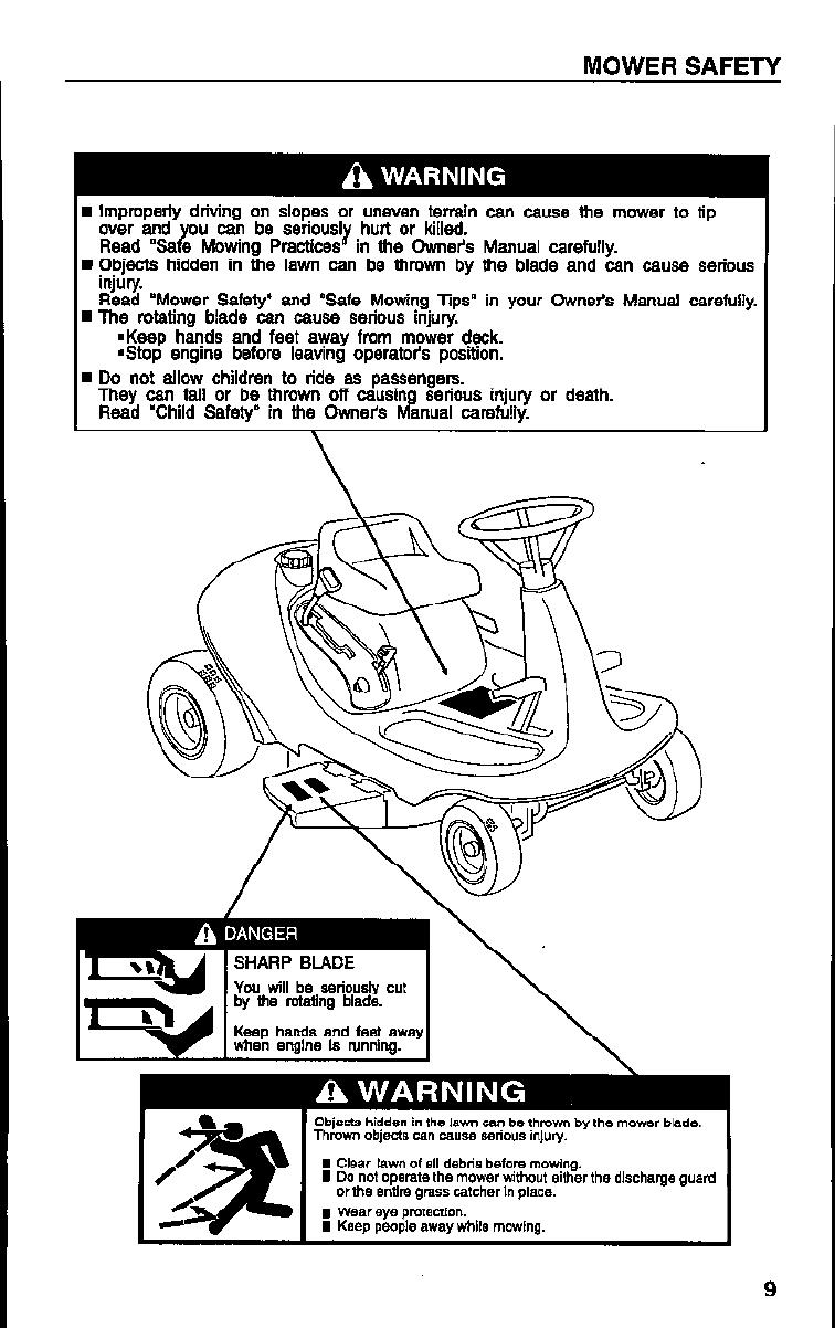 Honda Harmony 1011 Owners Manual